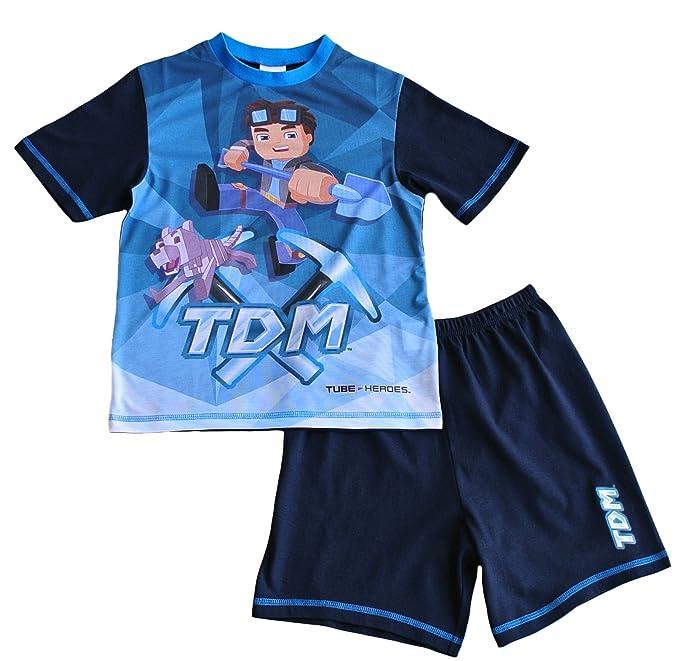 Dan TDM Pijama dos piezas - para niño Azul azul 5 años
