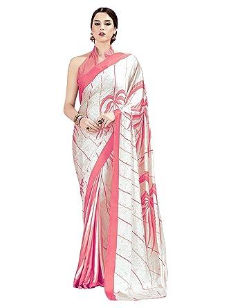5c4e53c792415 Mrinalika Fashion Women's Crepe Silk Saree With Blouse Piece ...