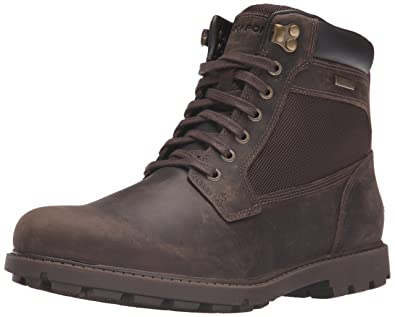 Rockport Men's Rugged Bucks Waterproof High Chukka Boot- Dark ...