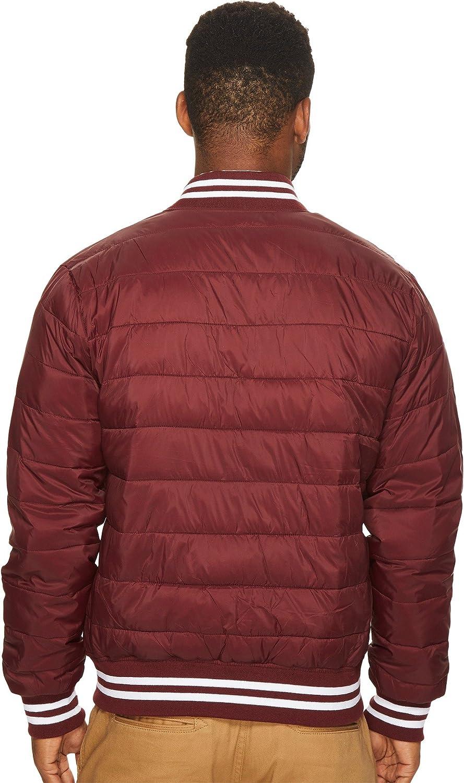Members Only Mens Down Blend Varsity Puffer Jacket