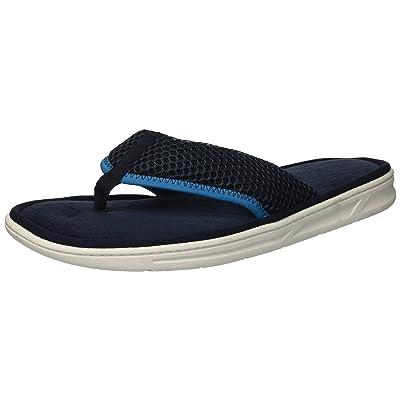 Dearfoams Men's Mesh Flip Flop Slipper, Navy Blazer, M Regular US | Sandals