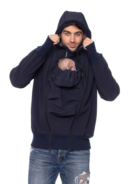 Tragejacke für Papa + Baby - Bauch-Rücken - Softshell Protectis
