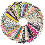 100 pz Quadratini di Stoffa Tessuti Quadrati di Cotone per Lavoretti Patchwork Cucito (10x10cm)