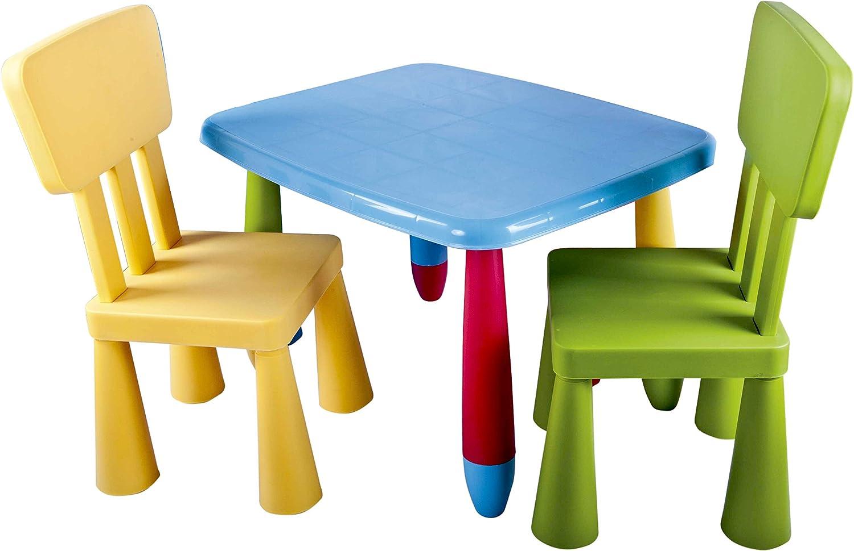 Juego de mesa y silla infantiles de colores desmontable: Amazon.es ...
