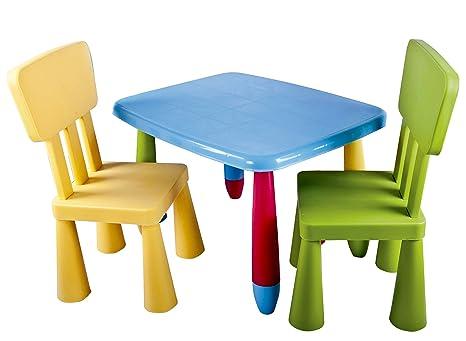 Juego de mesa y silla infantiles de colores desmontable: Amazon.es: Bebé