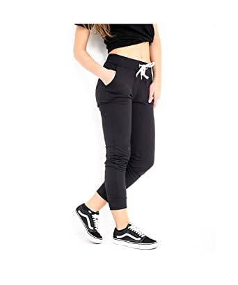 fdc7db963035 FASHION INSTYLE LTD1 Womens Joggers Trousers Ladies Tracksuit Bottoms  Jogging Gym Pants Lounge Wear Black  Amazon.co.uk  Clothing