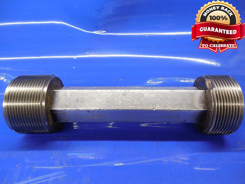 2 12 UN 2B Thread Plug GAGE 2.0 GO NO GO P.D.S = 1.9459 /& 1.9538 2.00-12 N-2B