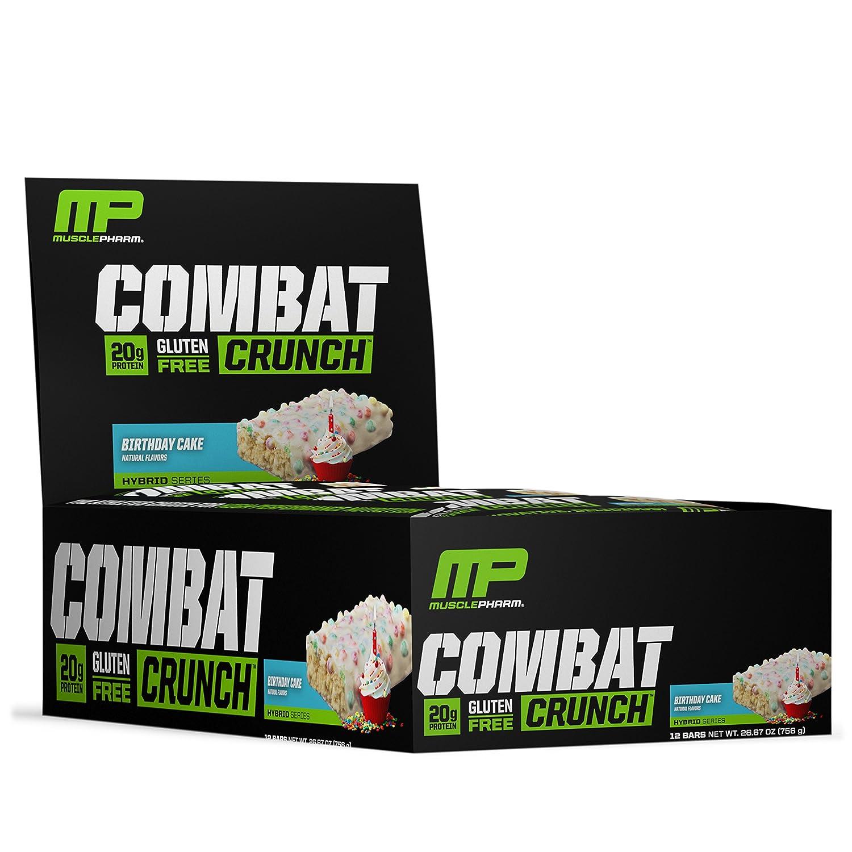 MusclePharm Combat Crunch Bars 12x63g Birthday Cake 756 G Amazonde Drogerie Korperpflege