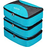 G4Free Packing Cubes Value Set for Travel Luggage Organiser -3 pcs (Blue)