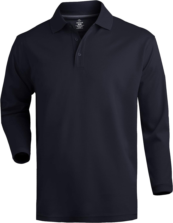 Averills Sharper Uniforms Unisex Moisture Management Cafe Long Sleeve Polo Shirt