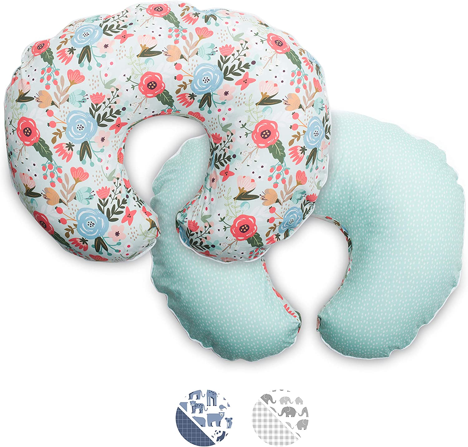 Boppy Premium Pillow Cover, Mint Floral