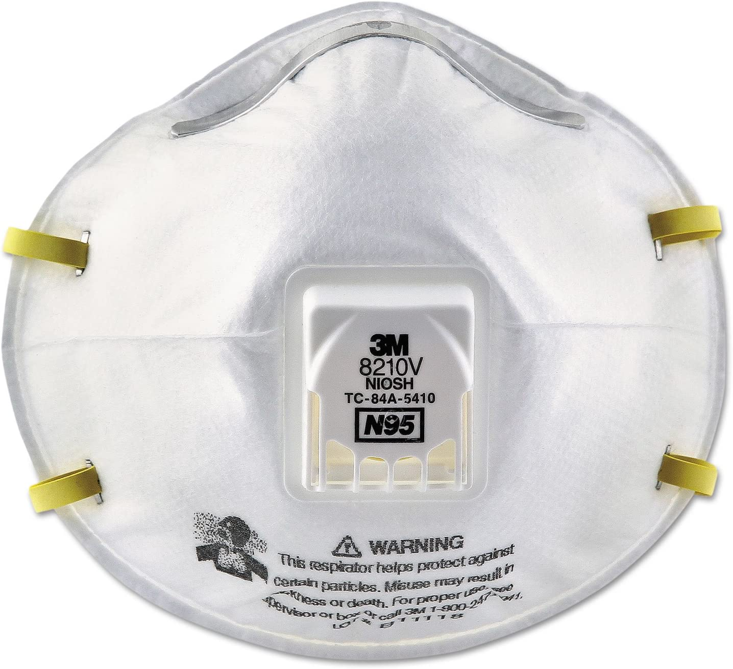 3m 8210v n95 particulate respirator mask
