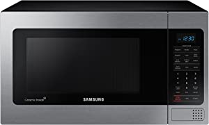 Samsung MG11H2020CT 1.1 cu. ft. Countertop Grill Microwave Oven with Ceramic Enamel Interior, Black