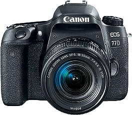 Canon EOS 77D Body, con 18-55mm, Negro