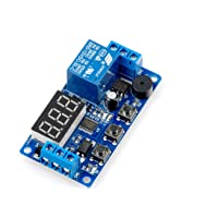 LIVISN Digital LED Display Time Delay Relay Module Board DC 12V Control Timer Switch Trigger Cycle Module Car Buzzer PLC Automation