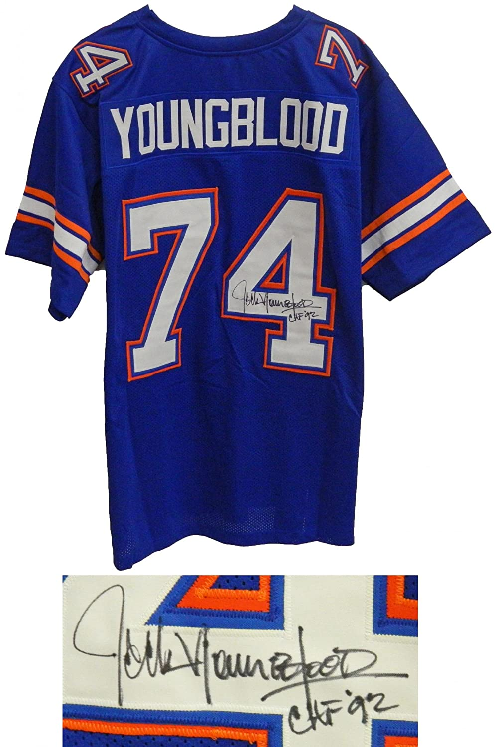 Los angeles lakers cheap nfl elite jerseys mlb coolbase jerseys nba - Cheap Jack Youngblood Signed Blue Custom Football Jersey W Chf 92 Autographed Nfl