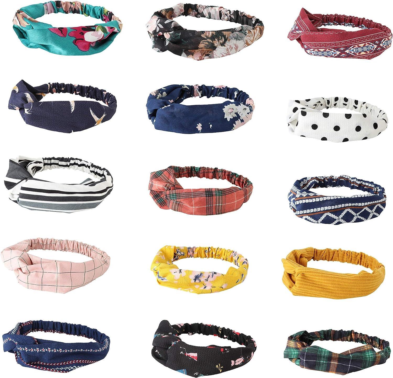Thunaraz 15PCS Headbands...