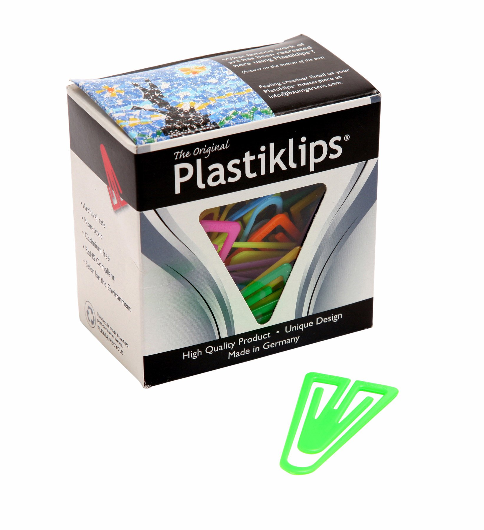 Plastiklips Paper Clips X-Large Size 50 Pack Assorted Colors (Pack of 72) (LP-1700)