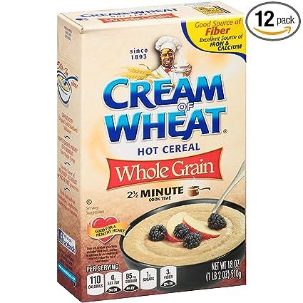 Crema de trigo, cereales calientes, grano completo, 453 ml ...