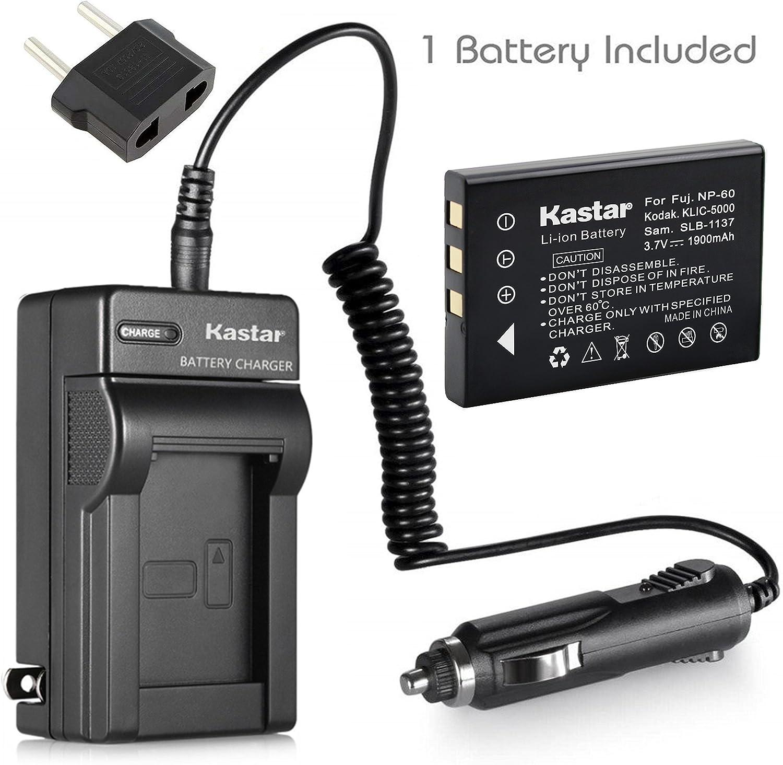 Kastar 1X Battery + Charger for Hewlett Packard A1812A L1812A L1812B Q2232-80001 HP PhotoSmart R07 R507 R607 R607xi R707 R707v R707xi R717 R725 R727 R817 R817v R818 R827 R837 R847 R926 R927 R937 R967