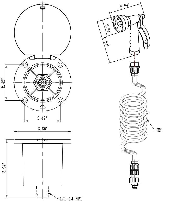 Amazon Com Dura Faucet Rv Exterior Quick Connect Spray Faucet With