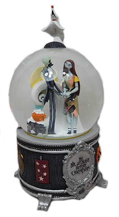 original musical snow globe nightmare before christmas by tim burton - Nightmare Before Christmas Snow Globes