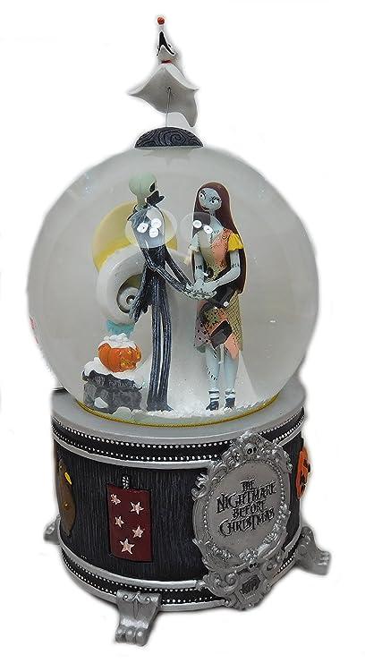 original musical snow globe nightmare before christmas by tim burton