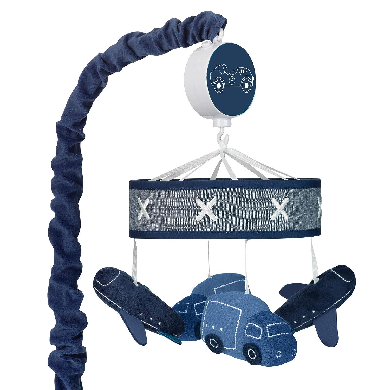 Nautica Kids Set Sail Nautical//Anchor Crib Nursery Musical Mobile Aqua Navy White
