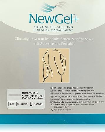 Amazon Com Newgel Silicone Gel Strips For Scar Managment 1 X 6