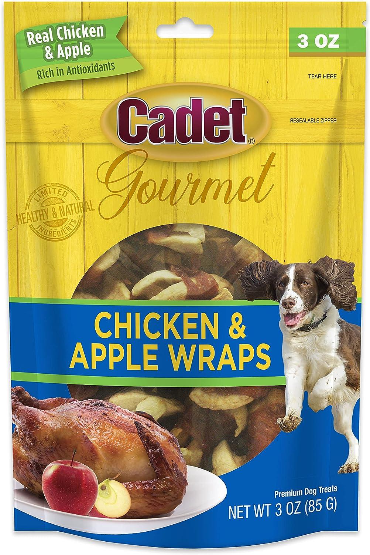 Cadet Premium Gourmet Chicken & Apple Wrap Treats for Dogs, 3 oz.