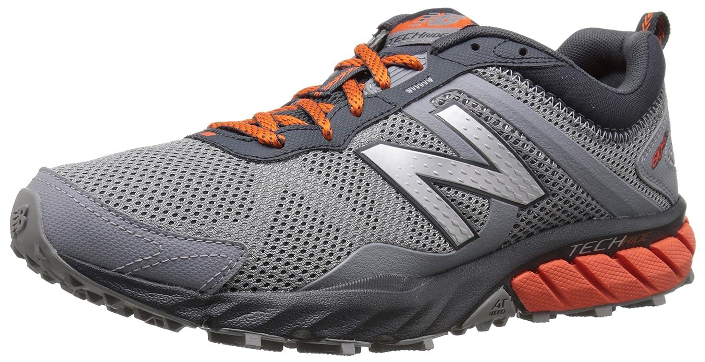 New Balance Hombre MT610V5 Trail Shoe, Grey/Orange, 41.5 4E EU: Amazon.es: Zapatos y complementos