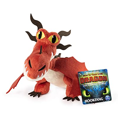 "Dreamworks Dragons, Hookfang 8"" Premium Plush Dragon, for Kids Aged 4 & Up: Toys & Games"