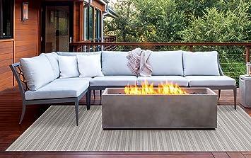 Brown Jordan Prime Label Outdoor Furniture Rug 5x7 Barnwell Collection  Sisal Woven Modern Patio Rugs,