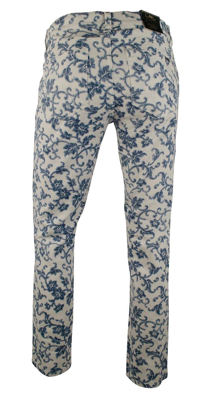 Ralph Lauren Women's Petite Modern Straight Ankle Floral Jeans Pants-BM-6P