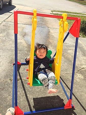 Infant To Toddler Indoor Swings With Giraffe Design