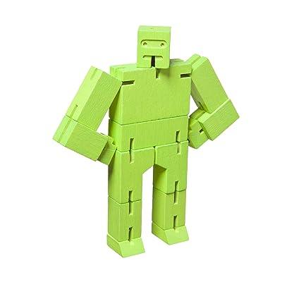 Areaware DWC4G Micro Cubebot - Juguete de madera, color verde: Oficina y papelería