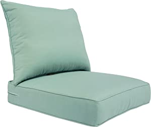 BOSSIMA Outdoor Patio Cushions Deep Seat Chair Cushions Sunbrella Furniture Cushions Green Canvas Spa