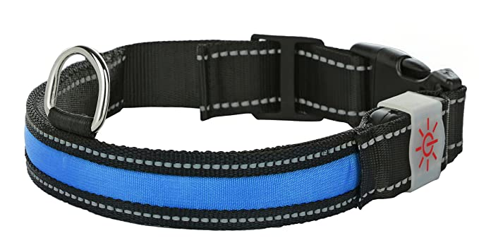 The Moco Best Light Up rechargeable LED Nylon Dog Collar