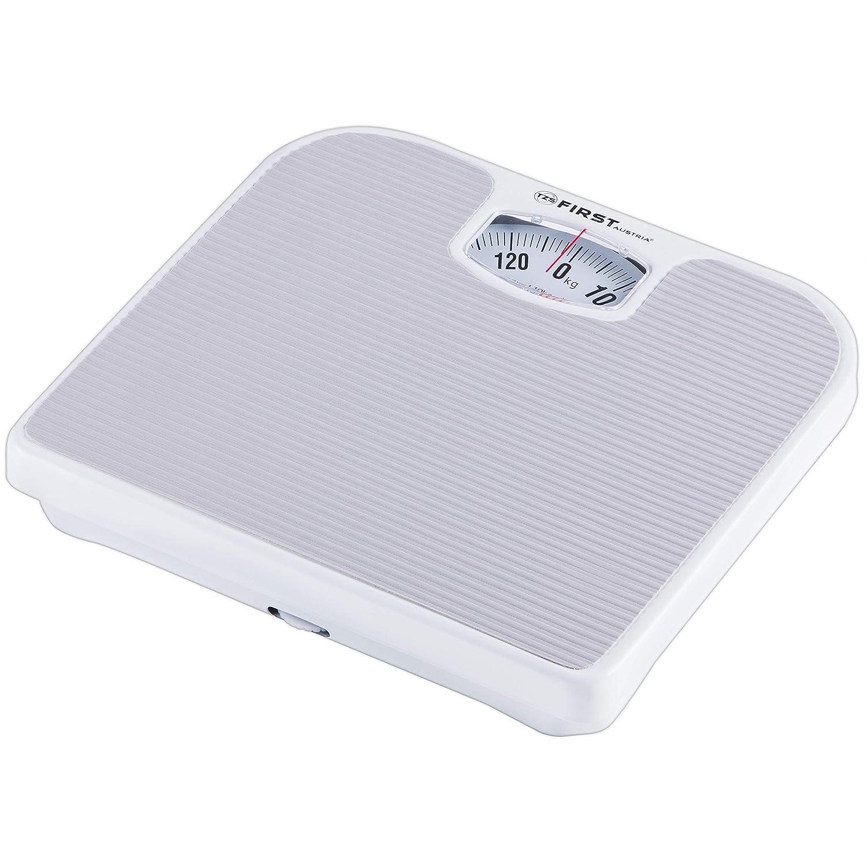 Báscula de baño mecánica | gris | hasta 130 kg | Báscula de baño analógica | Báscula de baño para mayores | Retro |: Amazon.es: Salud y cuidado personal
