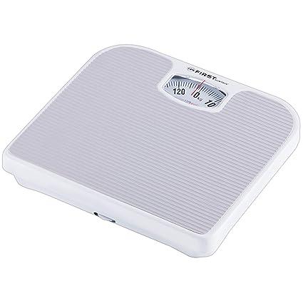 Báscula de baño mecánica | gris | hasta 130 kg | Báscula de baño analógica |