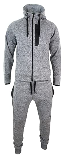 Survêtement homme fermeture éclair sweat à capuche et pantalon élastiqué en  coton mélangé coupe cintrée 0449d050297c
