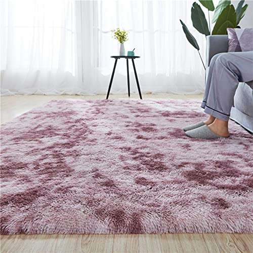 Rainlin Faux Fur Shag 5.3×6.6 Area Rug