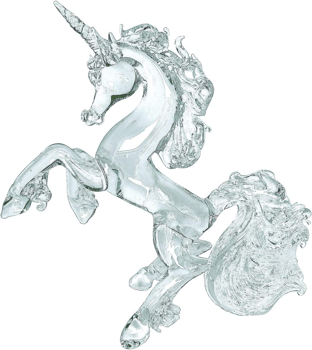 Prochaska Gallery Hand Blown Glass Unicorn Rearing Crystal Figurine