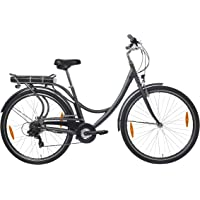 Teutoburg Senne Pedelec Citybike leicht Elektrofahrrad, 28 Zoll, mit 6-Gang Shimano Kettenschaltung, 250W und 10,4 Ah / 36 V Lithium-Ionen-Akku