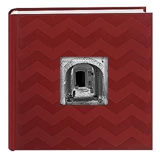 Pioneer álbumes de Fotos álbumes de Fotos da-200cvr 200-pocket Chevron Relieve Marco Polipiel álbum de Fotos, 4x 6Pulgadas, Color Rojo 4x 6Pulgadas Pioneer Photo Albums DA-200CVR/RD