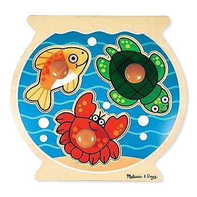 Melissa & Doug Fishbowl Jumbo Knob Wooden Puzzle: Melissa & Doug: Toys & Games
