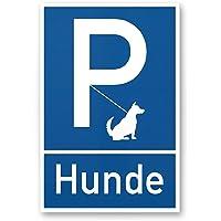 Parking–Chien Extérieur rester (Bleu), enseigne/panneau/Plaque d'interdiction/– Chien Interdiction