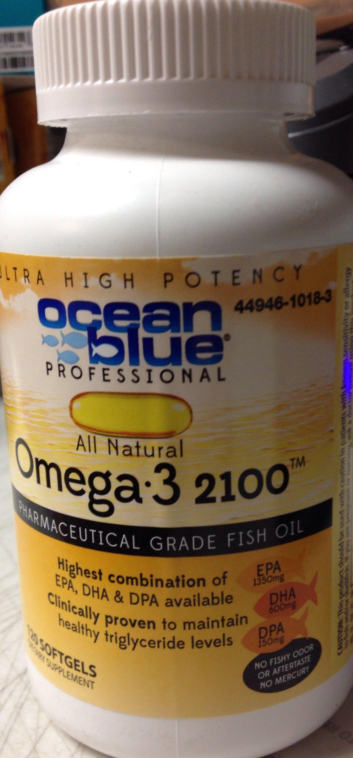 Ocean Blue | Omega 3 | 2100mg | 120 Count | 3 Pack