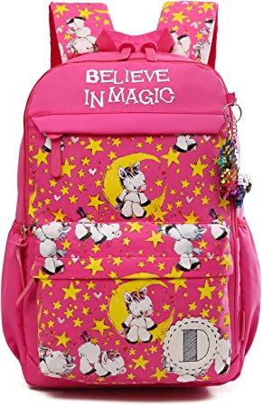 School Backpack For Children Bag Kindergarten Boys Girls Monkey Patch Design New