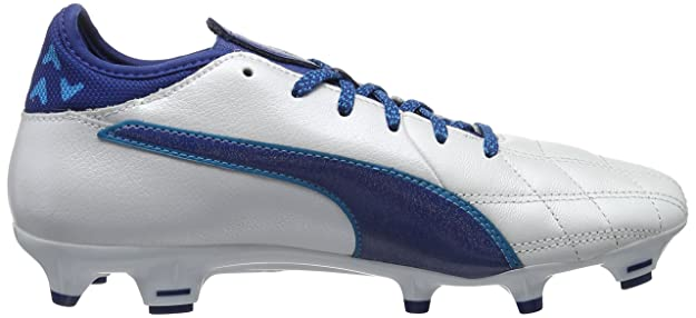 Puma Evotouch 3 TT, Chaussures de Football Compétition Homme, Blanc White-True Blue-Blue Danube 02, 36 EU